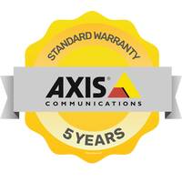 AXIS Free 5-year product warranty